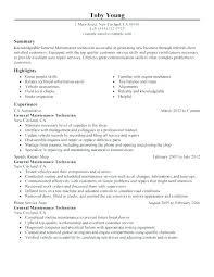 Auto Mechanic Resume Templates Resume Automotive Mechanic Automotive Resume Template Sample Resume