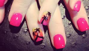 painted nail designs graham reid palm tree art on short nails