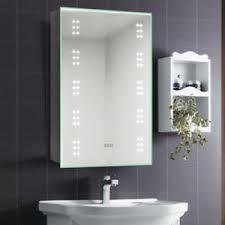 image is loading bathroom mirror cabinet led illuminated with shaver socket