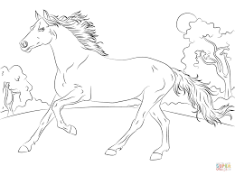 Running Horse Coloring Pages For Girls