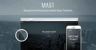 Muse Website Templates Cool Mast Awesome New Multipurpose Responsive Adobe Muse Theme