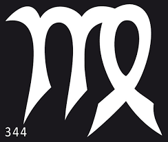 šablona 344 Znamení Panna Velikost 5x4 Cm