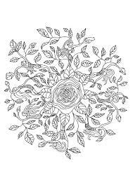 Coloriage Mandala Nature Sur Hugolescargot Com