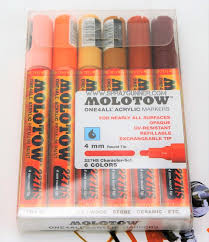 Molotow One4all Color Chart Molotow One4all 6 Colors Character Set 4mm