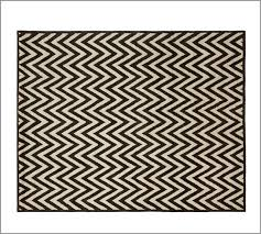 hayden zig zag rug black eclectic rugs by pottery barn