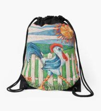 picket fence drawing. Strutting Drawstring Bag Picket Fence Drawing E