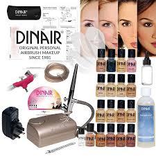 dinair studio pro set airbrush makeup kit 16pc make up set new digital pro pressor pro dinair cx airbrush stencils cleaner full uk warranty