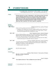 College Student Resume Format Classy Resume Template For Recent College Graduate Free Student Resume