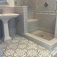 Grey floor tiles