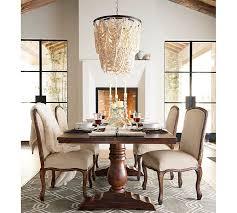 amelia wood bead chandelier pottery barn