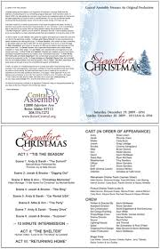Christmas Program Templates Church Program Template Cyberuse Free Printable Church