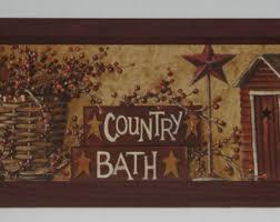 country bath primitive 6 inch x 12 inch wall decor bathroom wood framed on primitive framed wall art with wall decor bathroom etsy