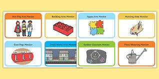 Classroom Monitors Chart Class Monitor And Job Information Cards Job Chart