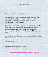 How To Write A Thank You Note To Admissions Directors