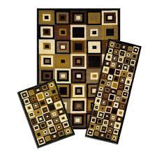 capri capri southwest tiles 5 ft x 7 ft 3 piece rug set