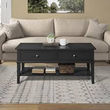 franklin wooden coffee table in black