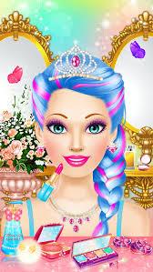 magic princess makeup dress up makeover games screenshot