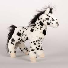 hera black appaloosa horse 12 plush horse