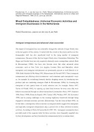 Pdf Immigrant Entrepreneurs In Advanced Economies Mixed