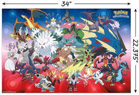 Amazon.com: Trends International Pokemon Mega Evolutions Wall Poster  22.375