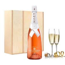moet chandon virgil abloh nectar imperial rose gift set with flutes
