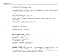 Fullsize By Barry Glen Perfect Sample Of Nanny Resume Create