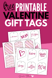These particular labels are available in two sizes in round, as well as rectangular labels. Free Printable Valentine Gift Tags Sarah Titus From Homeless To 8 Figures