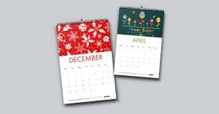 A4 Flat Wall Calendars