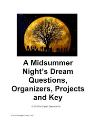 cheap dream act status dream act status deals on line at  get quotations · a midsummer night s dream act questions graphic organizers writing projects and answer key