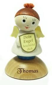 Details Zu Ein Sehr Schöner Holz Schutzengel Engel Mit Gravur Nach Wunsch Name