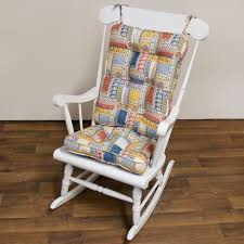 fascinating cracker barrel rocking chair cushion covers chairs for porch bar in pretty white finish wood standing on wood flooring home furniture design cushion for rocking chair rocking