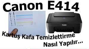 Canon E414 Kartuş Kafa Temizleme nasıl yaptırılır | Bölüm 496