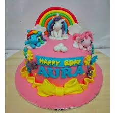 Jual Fondant Cake Birthday Little Pony Kue Ultah Anak Size 20cm