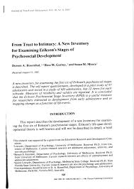 Pdf From Trust On Intimacy A New Inventory For Examining