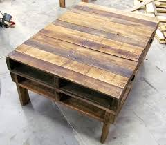 Coffee Table, Chic Teak Rectangle Industrial Wood Pallet Coffee Table Ideas  To Decorating Small Living ...