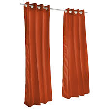 sunbrella canvas brick outdoor curtain with nickel plated grommets