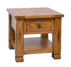 rustic end tables. Arizona Rustic Oak Occasional End Table W/ Drawer Tables