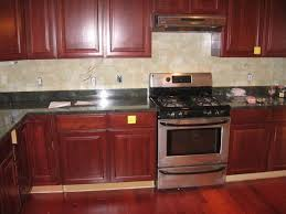 Beautiful Kitchen Backsplash Cherry Cabinets Black Counter Countertops For Google Search To Concept Ideas