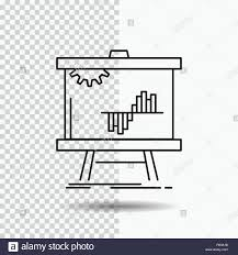 Business Chart Data Graph Stats Line Icon On Transparent