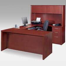 corner l shaped office desk with hutch black and cherry black open shelves wooden armless desk