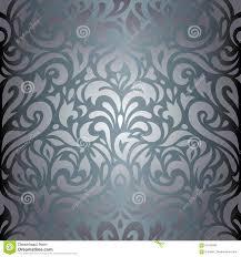 Zilveren Bloemen Van Het Luxe Uitstekend Behang Ontwerp Als