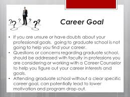 what are your professional goals graduate school or full time work presented by patty dang m s