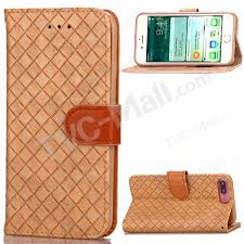 woven pattern wallet stand leather folio case for iphone 8 plus 7 plus 5 5 inch