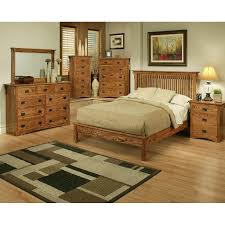 Lovely Mission Oak Rake Bedroom Suite   Queen Size   Oak For Less® Furniture ...