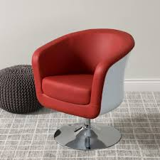 livingroom red leather tub chairs swivel chair faux and footrest nz real excellent armchair