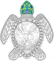 Small Picture Adult Coloring Page World Turtle Printable coloring page