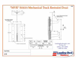 loading dock equipment trailer restraint and dock locks 53' trailer loading diagram mvr mechanical truck restraint diagram (pdf)