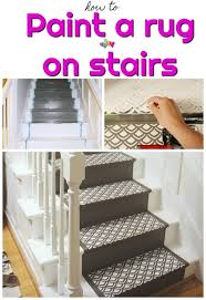 how to paint your stairs image including an after and before