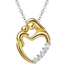mother baby love heart pendant