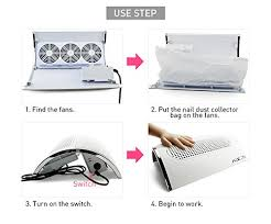 amazon kads nail art dust suction collector 3 fans powerful strong power nail dryer tool with 2 dust collecting bags beauty